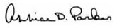 Annise Parker signature