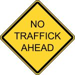 No traffick ahead logo