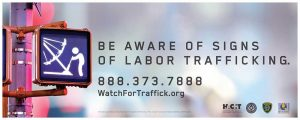 Watch for Trafficking Carnival Industry Sign