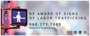 Watch for Trafficking Construction Industry Sign
