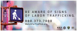 Watch for Trafficking Domestic Servitude Sign