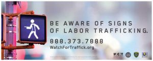 Watch for Trafficking Restaurant Industry Sign