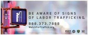 Watch for Trafficking Traveling Sales Crews Sign